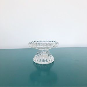 PartyLite Glass Pillar Candle Holder